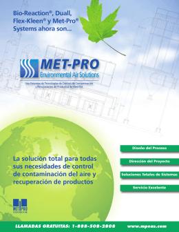Recuperación de Productos - Met-Pro Environmental Air Solutions