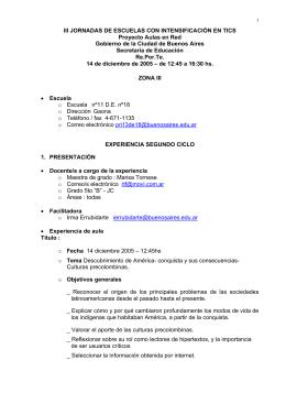 III JORNADAS DE ESCUELAS CON INTENSIFICACIÓN EN TICS