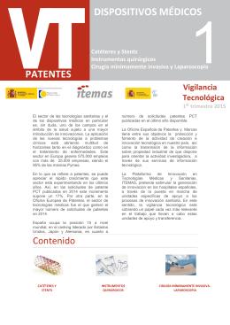 Boletín Vigilancia Tecnológica Dispositivos Médicos (1º trimestre