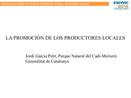 La promoción de los productos locales en el Parque Natural Cadí