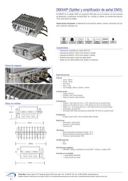 DMX4IP (Splitter y amplificador de señal DMX)