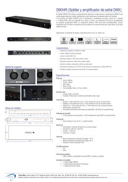 DMX4R (Splitter y amplificador de señal DMX)