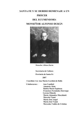Santa Fe y su debido homenaje a un prócer del ecumenismo