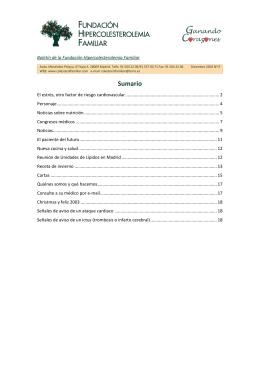 Boletín nº 9 - Fundación Hipercolesterolemia Familiar