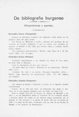De bibliografía burgense