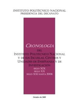 CRONOLOGÍA - Decanato - Instituto Politécnico Nacional