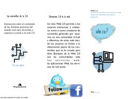 Las maravillas de la 2.0 Elementos 2.0 le la web No me dejen