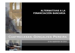 """Presentación """"Alternativas a la financiación bancaria"""""""