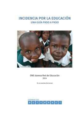 INCIDENCIA POR LA EDUCACIÓN