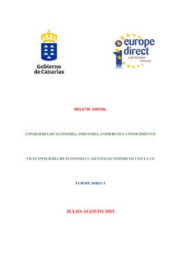 JULIO-AGOSTO 2015 - Gobierno de Canarias
