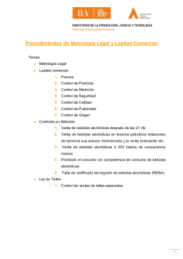 Metrologia Legal y Lealtad Comercial