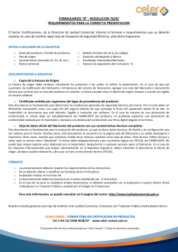 "formularios ""b"" - resolucion 76/02 requerimientos para"