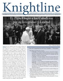 El Papa Elogió a los Caballeros por su Integridad y Lealtad