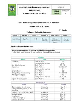 Guías de estudio para los exámenes del 1er