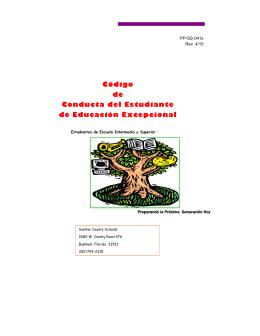 Código de Conducta de Estudiantes Educación de Estudiantes