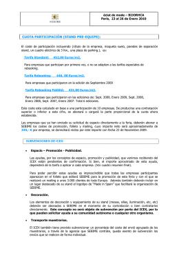 CUOTA PARTICIPACIÓN (STAND PRE-EQUIPE):