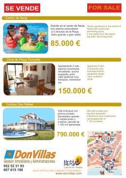 FOLLETO DONVILLAS oficina turismo 2015 con plano 20-05