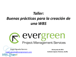 Taller WBS - Instituto de Estudios Cajasol