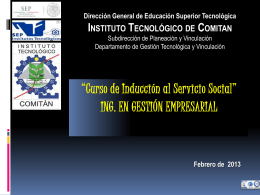 Diapositiva 1 - Instituto Tecnológico de Comitán