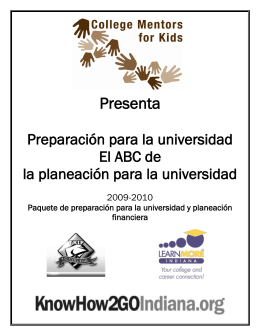 Presenta - College Mentors for Kids