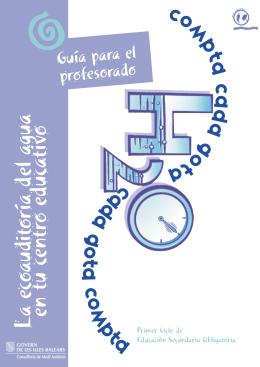 Guía para el profesorado - Direcció General de Recursos Hídrics