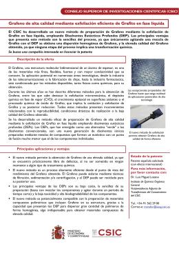 Grafeno de alta calidad mediante exfoliación eficiente de Grafito en