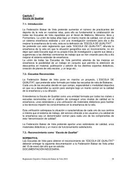 Capítulo 7 Escola de Qualitat 7.1.