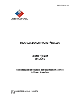 Requisitos para la Evaluación de Productos Farmacéuticos de uso