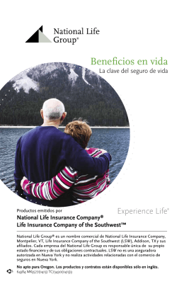 Beneficios en vida - National Life Group