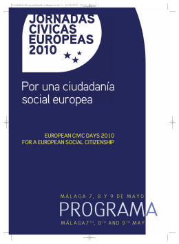 Programa de las Jornadas Cívicas Europeas 2010