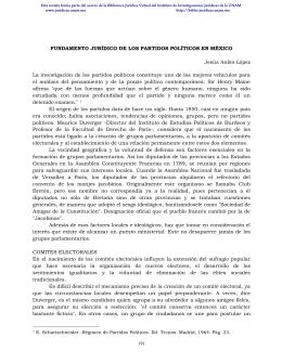 FUNDAMENTO JURÍDICO DE LOS PARTIDOS POLÍTICOS EN