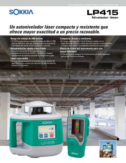 Un autonivelador láser compacto y resistente que ofrece
