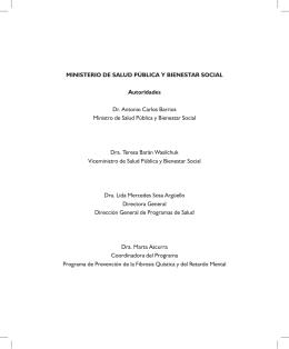 Hipotiroidismo Congénito - Ministerio de Salud Pública y Bienestar
