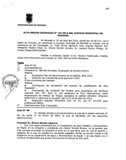 acta 10 2014 - Ilustre Municipalidad de Navidad