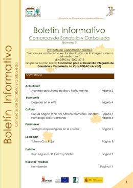 Nº 9 Boletín comarcal - Abril 2015 [Descargar +]