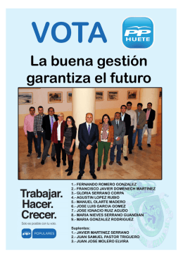 Programa electoral del PP de Huete (16-05