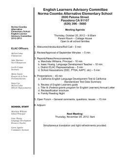 ELAC Mtg Agenda 2012-10-25 Eng-Span