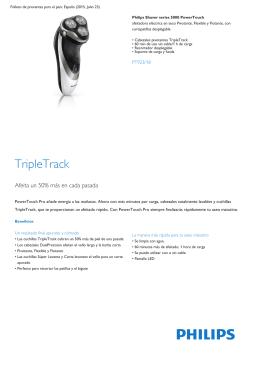 Afeitadora eléctrica en seco con cabezales pivotantes TripleTrack
