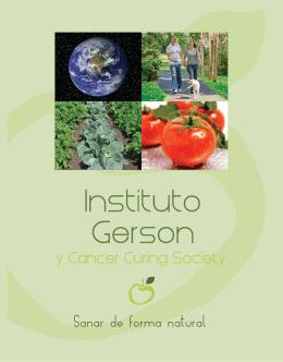SANAR EN FORMA NATURAL Gerson-Brochure