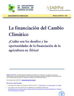 La financiación del Cambio Climático