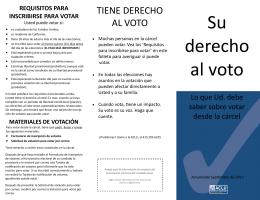 Su derecho al voto