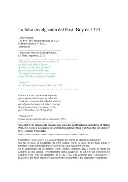 La falsa divulgación del Post Boy de 1723