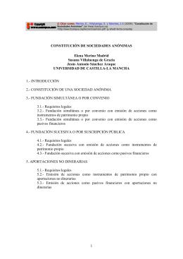 Constitución de Sociedades Anónimas