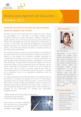 NEWS Education Agent Newsletter October 2012 Colombia