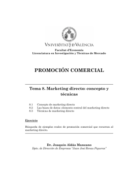 Comercial Marketing Directo