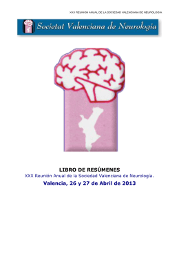 Libro de Resúmenes - Sociedad Valenciana de Neurología