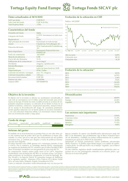 Tortuga Equity Fund Europe Tortuga Fonds SICAV plc