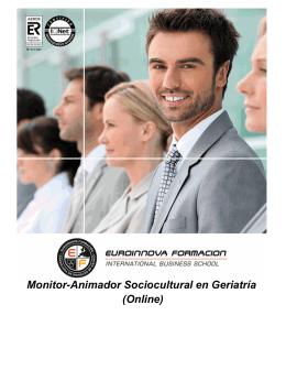 Monitor-Animador Sociocultural en Geriatría (Online)