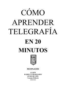 Como aprender telegrafia en 20 minutos