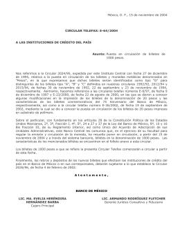 Telefax E64/2004 - Banco de México